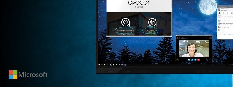 Avocor enhances teamwork on a global scale with the debut of the first Windows collaboration displays