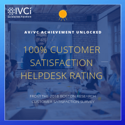 IVCi Receives 100% Rating for Customer Satisfaction for 2018