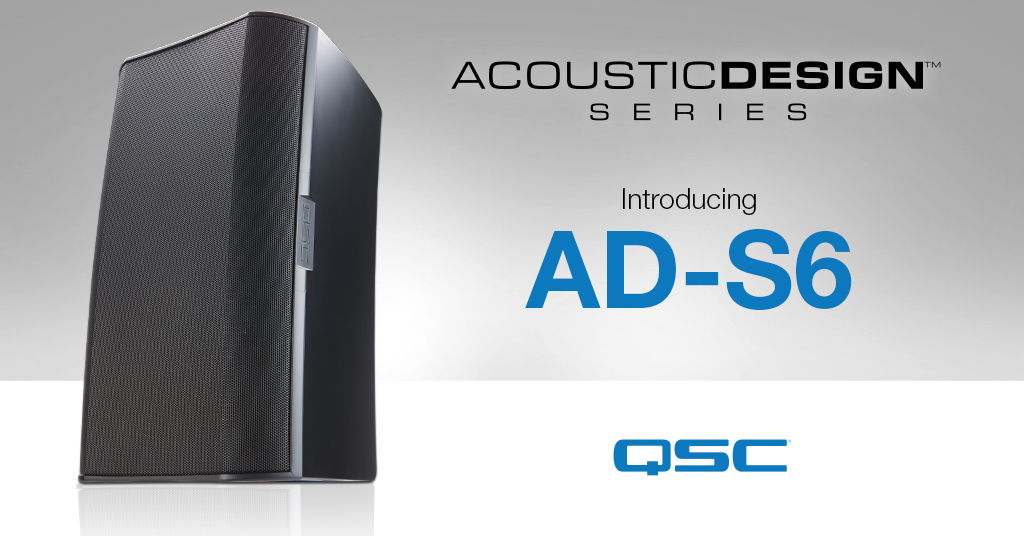 QSC expands AcousticDesign™ Series with new Transformer-less Surface-Mount Loudspeaker Option