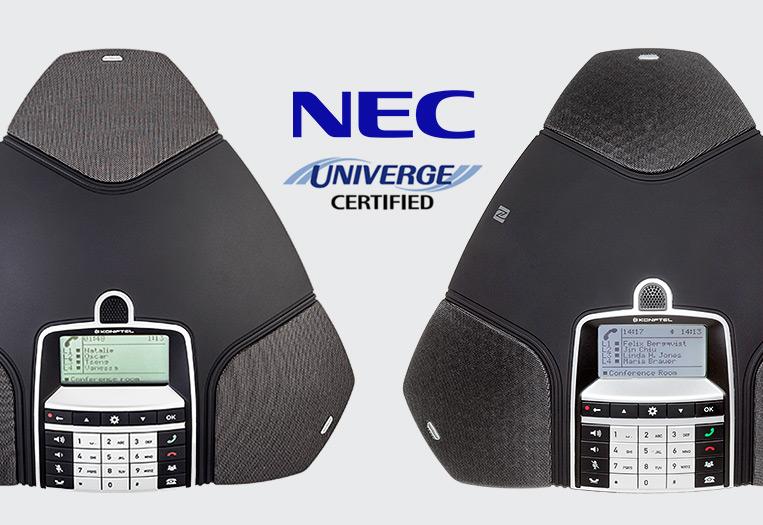NEC certifies Konftel IP conference phones