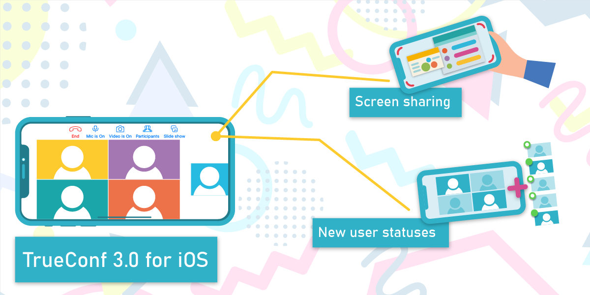 TrueConf 3.0 for iOS: Screen sharing and new user status