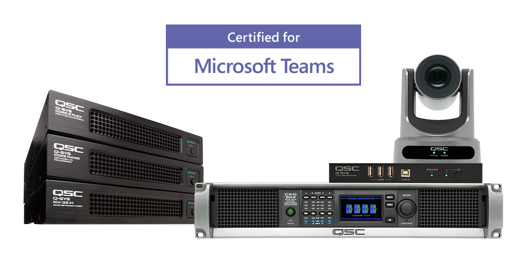 QSC Further Expands Microsoft Teams Rooms Certified Solution Portfolio for High-Value Spaces